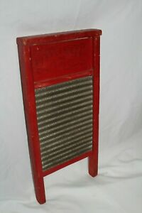 Vintage Antique Busy Bee 16 Mini Washboard Laundry Room Lingerie Scrub Board