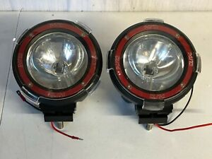 Xenon Hid Off Road Round Fog Lights Lighting W Red Housing Truck Boat Atv New