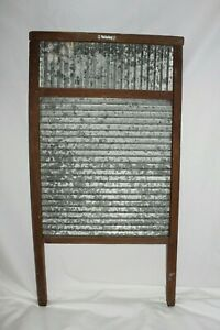 Vintage Antique Washboard Laundry Room Scrub Board Primitive Farmhouse Decor