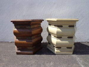 Pair Of Tables Lane Drum Table Stool Chinoiserie Brass Bohemian Boho Chic Accent