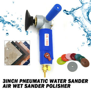 3 Pneumatic Water Polisher Wet Air Sander Air Grinder For Marble Granite Stone