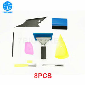 8pcs Car Window Tint Wrapping Vinyl Tools Squeegee Scraper Applicator Kit Usa