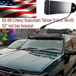 88 89 90 91 98 Chevy C K Truck Roof Mount Bracket For 52 Curved Led Light Bar