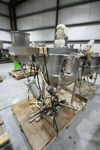 100 Gallon Lee Jacketed Kettle With Scrape Agitation And Steam Jacket Food