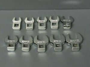 New Craftsman 4363 Crowfoot Wrench Set 10 Piece Metric 10 19mm 3 8 Drive