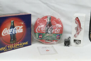Coca-Cola Disc Wall Hanging Phone with Light Vintage 1995  - Coke Telephone
