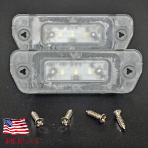 White Can bus Led License Plate Light For Mercedes Ml Gl R Class W164 X164 W251