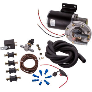 Electric Vacuum Pump Kit For Brake Booster 12 Volt 18 To 22 W vacuum Hose