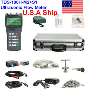 Ship From Usa Tds 100h m2 s1 Ultrasonic Flow Meter Clamp On Sensor dn15 700mm