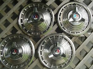 1963 Ford Galaxie 500 Fairlane Falcon Hubcaps Wheel Covers Center Caps Vintage