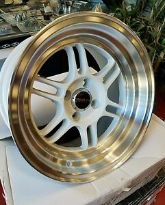 15x8 4x100 15 New Traklite Octane Free Shipping Honda Civic Integra More