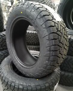 4 New Lt305 55r20 Fuel Gripper A T 121 118s E 10 Ply Rated Tires