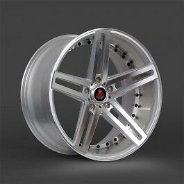 20x8 5 20x10 Axe Ex20 Silver Machine Mirror Lip 2pc Staggered Wheel 20