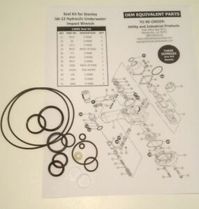 Seal Kit Stanley Iw 12 Hydraulic Underwater Impact Wrench Seal Kit No 13695