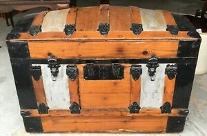 Antique Curved Dome Top Trunk 1800 S