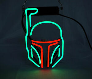 New Star Wars Mask Neon Light Sign Lamp Beer Pub Acrylic 14 Real Glass