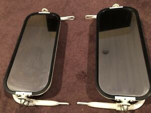 Vintage Delbar Pair Of Truck Towing Mirrors White Off White