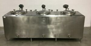 Cherry burrel 3 Compartment Stainless Steel Jacketed Mixing Flavors Tank