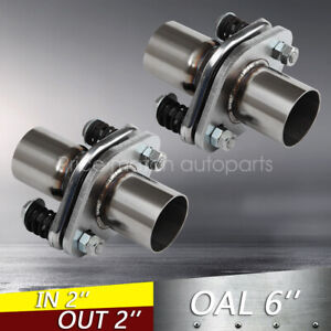 2 Id Stainless Exhaust Spherical Joint Spring Bolt Flange Pipe Repair 2pcs