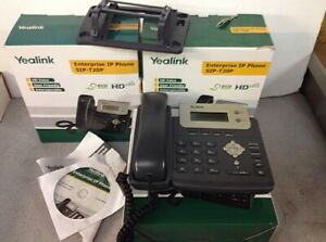 Lot Of 3 Yealink Sip t20p Ip Business Office Phone With Box