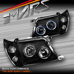 Angel Eyes Projector Head Lights Corner For Toyota Land cruiser Prado Fj90