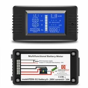 Battery Tester Power Voltage Current Impedance Capacity Energy Meter Monitor Q