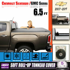 Truck Bed Cover Soft Roll Up 6 5 Tonneau Cover Fit Chevy Silverado 1500 W light