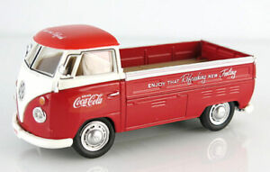 Motor City 440546 1/43rd O Scale Coca-Cola - 1962 Volkswagen T1 Pickup in Red HH
