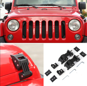 For 2007 2018 Jeep Wrangler Jk Parts Car Hood Latches Buckle Pins Catch Lock