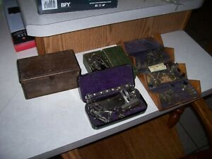 Antique Singer Treadle Sewing Machine Parts Wood Puzzle Box With Attachments