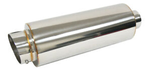 Obx Stainless Steel Round Muffler Universal Fit All Cars 2 5 Inlet B31 Slant