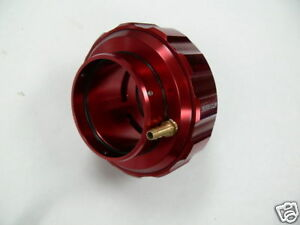 Obx Racing Aluminum In Line Universal Blow Off Valve For 2 1 2 64mm Pipe Red