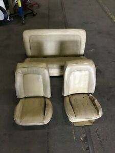 1978 1979 Ford Bronco Factory Front Bucket And Rear Bench Seat Set Tan