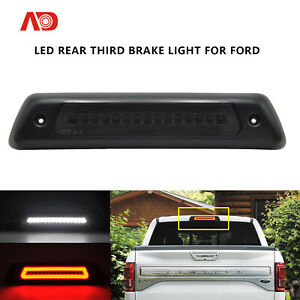 Led Rear Third 3rd Brake Lamp Roof Cargo Light For 09 14 Ford F 150 Smoked 2pcs