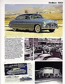 1952 Hudson Hornet Wasp Article Must See Twin H Power Engine