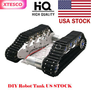 Diy Robot Tank Chassis Metal Independent Suspension System Tracked Vehicle Kit S