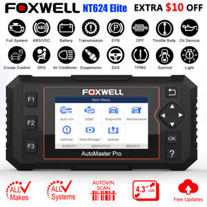 Foxwell Obd2 Scanner Full System Auto Diagnostic Tool Oil Epb Reset Code Reader