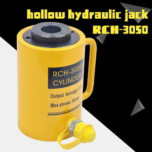 Hydraulic Hollow Hole Cylinder Jack Ram 30 Tons Industrial New