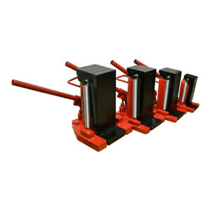 Hydraulic Ram Toe Lift Jack 20 10 Ton Hoist Picker Track Machine Container