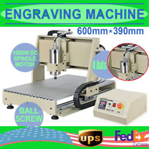 Usb 4 Axis 6040 Cnc Router Engraver Milling Carving Engraving Machine 1 5kw Vfd