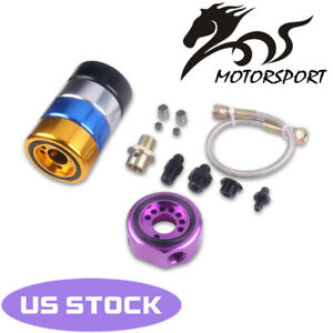 Vtec Oil Supply Line Adapter Plate Sandwich Conversion For Honda Ls B20 Red