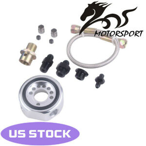 Vtec Oil Supply Line Adapter Plate Sandwich Conversion For Honda Ls B20 Silver