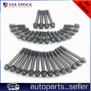 For Chevy Aluminum Steel Head Bolts Heads 350 383 400 Oe134 3601 Sbc Small Block