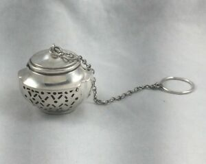 Webster Unique Sterling Tea Ball W Chain