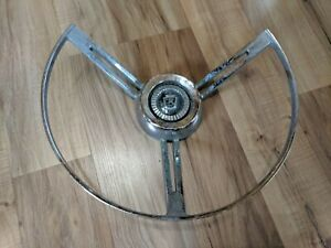 Vintage 1958 Ford Steering Wheel Horn Ring C2aa 13a800