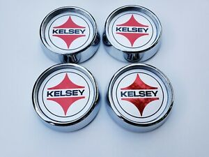 67 Shelby Kelsey Hayes Mag Star Center Cap Set Of 4
