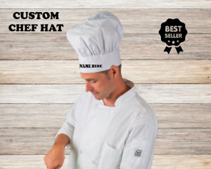 Personalized Chef Hat Traditional Style Cooking Hat With Your Own Name On It