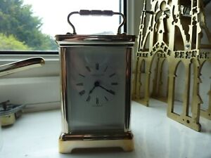 Antique Reproduction 5 Glass Carriage Clock Good Order Throughout