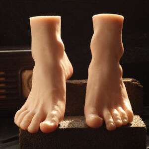 Top Quality Silicone Male Feet Model Men s Foot Mannequin Display One Pair