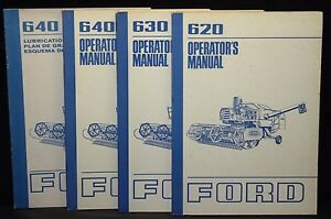 Lot Of 4 Ford Tractor Owner s Manuals 620 630 640 Combine Operators Manuals